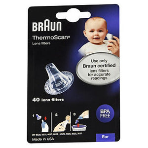 Braun ThermoScan Lens Filters 40 Each by Vicks (2590161502293)