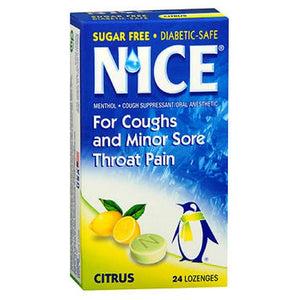 N'ice Sugar Free Lozenges Citrus 24 Each by Emerson Healthcare Llc