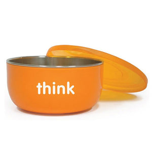 BPA Free Cereal Bowl Orange 1 Count by Thinkbaby (2588282093653)