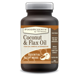 Flax & Coconut Oil 90 Caps by Foodscience Of Vermont (2588325052501)