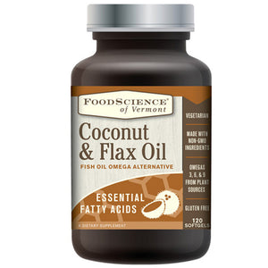 Flax & Coconut Oil 120 Caps by Foodscience Of Vermont (2588325216341)