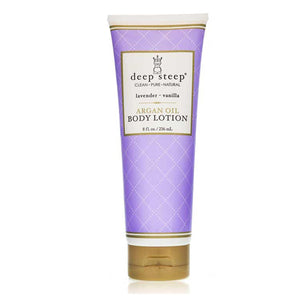 Argan Oil Body Lotion Lavender Vanilla 8 fl oz by Deep Steep (2588330459221)