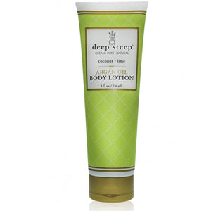 Argan Oil Body Lotion Coconut Lime 8 fl oz by Deep Steep (2588330721365)