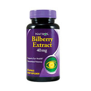 Bilberry Extract 60 Caps by Natrol