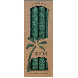 Candle 9 Inch Taper Green, 4 Pack by Aloha Bay (2584184717397)