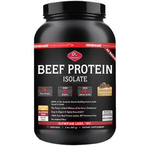 Beef Protein Isolate Chocolate 2 lbs by Olympian Labs (2588354117717)