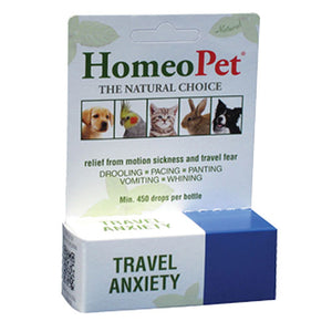 Travel Anxiety Drops 15 ml by HomeoPet Solutions (2588357525589)