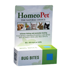 Bug Bites Drops 15 ml by HomeoPet Solutions (2588357820501)
