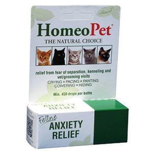 Feline Anxiety Relief Drops 15 ml by HomeoPet Solutions (2588358836309)
