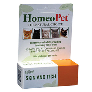 Feline Skin & Itch Drops 15 ml by HomeoPet Solutions (2588358901845)