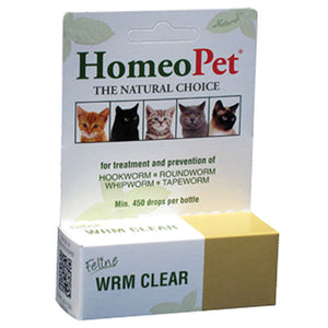 Feline WRM Clear Drops 15 ml by HomeoPet Solutions (2588358967381)
