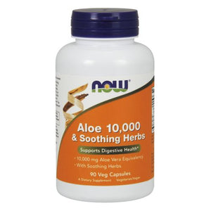 Aloe 10,000 & Soothing Herbs 90 Veg Capsules by Now Foods (2590232903765)