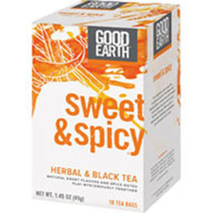 Sweet and Spicy Herbal and Black Tea 18 Bags by Good Earth Teas