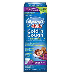 Cold N' Cough Nighttime Grape 4 oz by Hylands