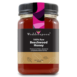 100% Raw Beechwood Honey 17.6 oz by Wedderspoon