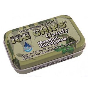 Ice Chips Candy Menthol Eucalyptus 1.76 oz by Ice Chips Candy