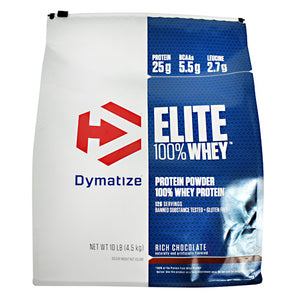 Elite Whey Protein Chocolate 10 lbs by Dymatize