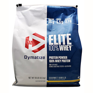 Elite Whey Protein Vanilla 10 lbs by Dymatize
