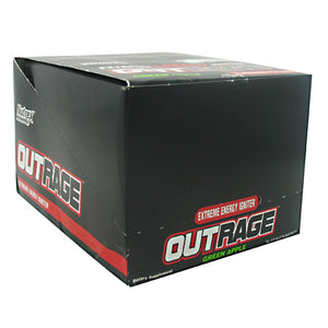 OUTRAGE ENERGY SHOTS Green Apple 12 / 4 oz by Nutrex Research