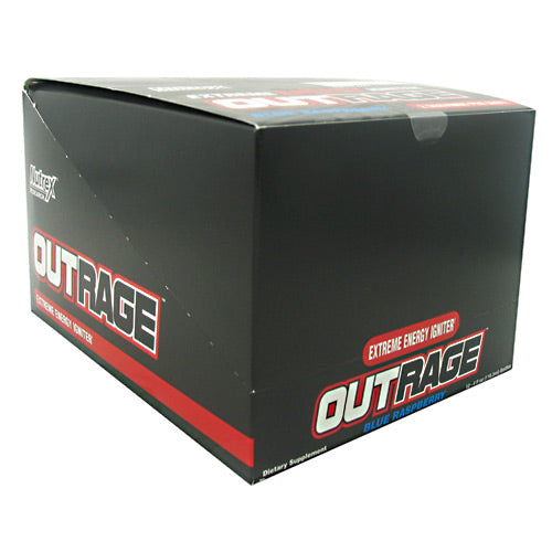 OUTRAGE ENERGY SHOTS Blue Raspberry 12 / 4 oz by Nutrex Research
