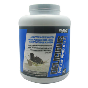Delicious Protein Elite Cookies & Cream 5 lbs by Giant Sports Products (2587686895701)