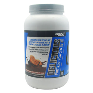 Delicious Protein Elite Peanut Butter Chocolate 2 lbs by Giant Sports Products (2587686961237)