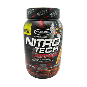 Nitro Tech Ripped Chocolate Fudge 2 lbs by Muscletech (2587690991701)