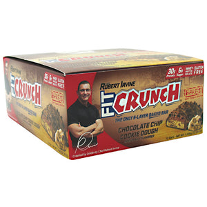 Fit Cruch Bar Chocolate Chip Cookie Dough 12/88 gms by Chef Robert Irvine Fortifx (2590264262741)