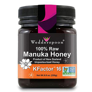 Wedderspoon 100% Raw Manuka Honey - KFactor 16 8.8 OZ by Wedderspoon Organic (2587697152085)