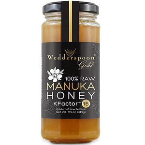 Wedderspoon 100% Raw Manuka Honey - KFactor 16 11.5 OZ by Wedderspoon Organic