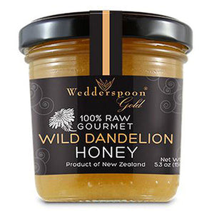 100% Raw Gourmet Wild Dandelion Honey 5.3 OZ by Wedderspoon Organic (2587697250389)