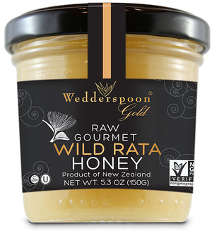 100% Raw Gourmet Wild Rata Honey 5.3 OZ by Wedderspoon Organic