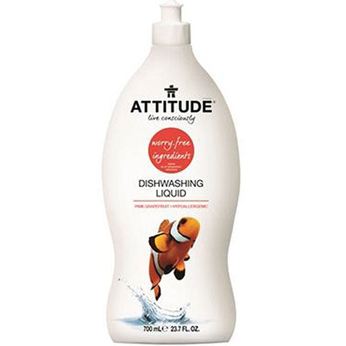 Dishwashing Liquid Pink Grapefruit 23.7 Oz by Attitude
