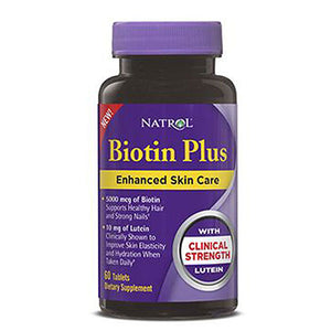 Biotin with Lurein 5 00mcg 12.2 OZ by Natrol (2590268915797)