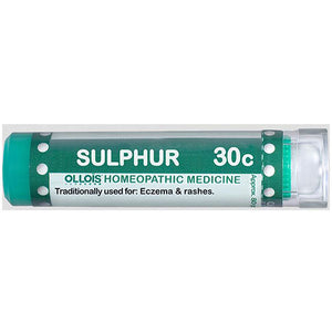 Sulphur 30C Pellets, 80 Count by Ollois