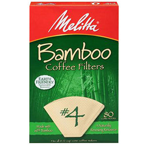 Coffee Filter Bamboo Brown No4 80PC by Melitta (2590271570005)