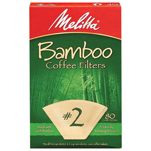 Coffee Filter Bamboo Brown No2 80PC by Melitta (2590271602773)