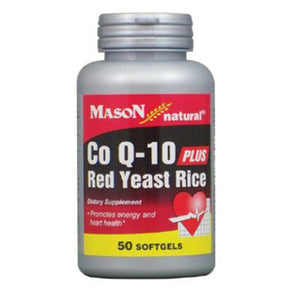 CoQ 10 Plus Red Yeast Rice 50 Softgels by Mason
