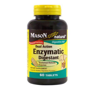 Dual Action Enzymatic Digestant 60 Tabs by Mason
