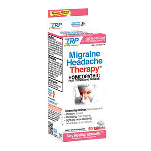 Migraine Headache Therapy 50 Tabs by TRP Company (2590275666005)