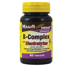 B-Complex with Electrolytes 60 Tabs by Mason