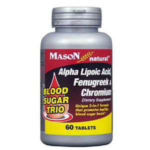 Diabetes Trio: Alpha Lipoic Acid - Fenugreek & Chromium 60 Tabs by Mason
