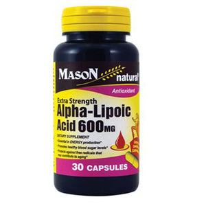 Extra Strength Alpha Lipoic Acid 30 Caps by Mason