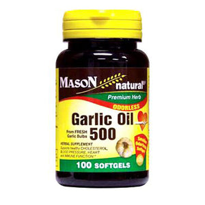 Odorless Garlic Oil 100 Softgels by Mason
