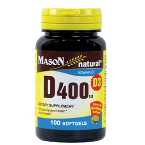 Vitamin D400 100 Softgels by Mason