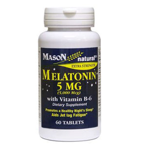 Extra Strength Melatonin 60 Tabs by Mason (2590276091989)