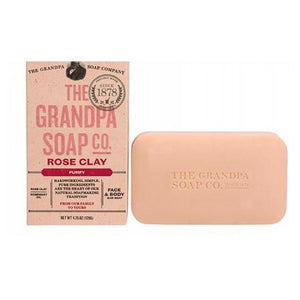 Bar Soap Rose Clay 4.25 oz by Grandpa's Brands Company (2590276714581)
