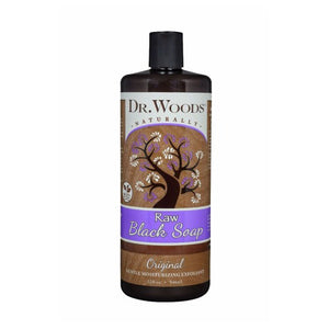 Raw Black Soap Peppermint 8 oz by Dr.Woods Products
