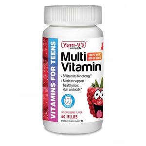 Multi Vitamins for Teens Raspberry 60 Count by Dulce Probiotics