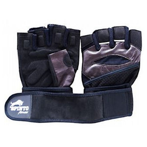 Men's Workout Gloves Brown, Large 1 Pair by Spinto USA LLC